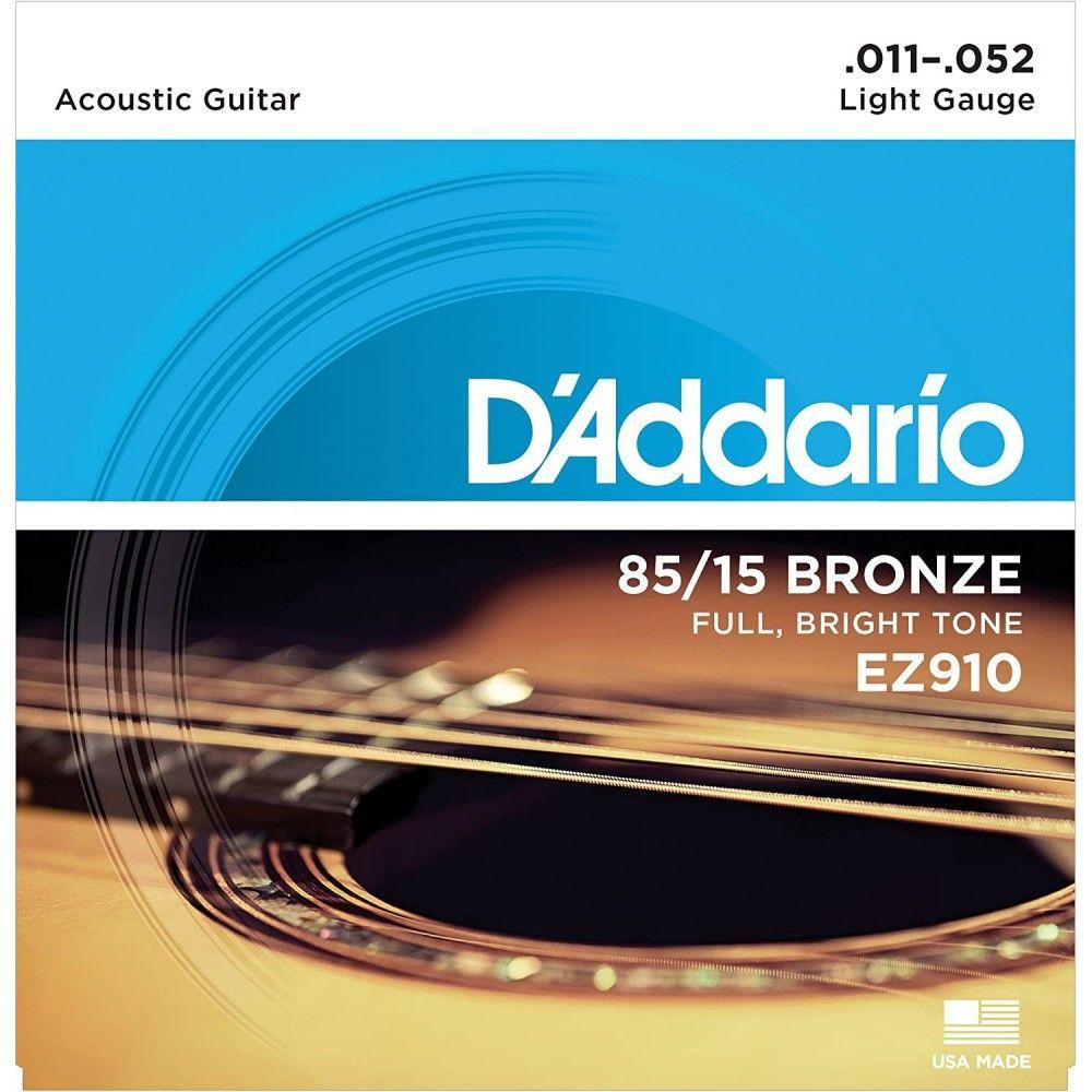 D`Addario EZ910 - Set Corzi Chitara Acustica 11-52 D'Addario - 1