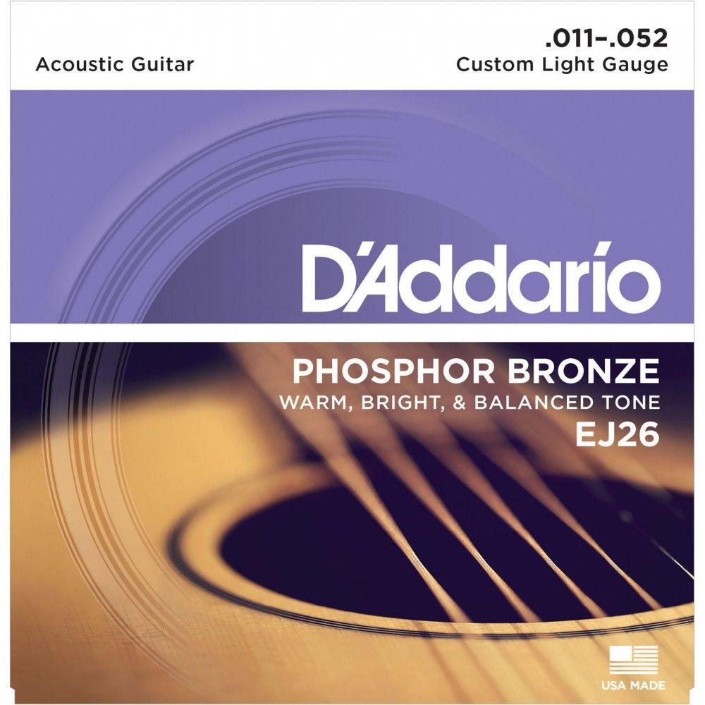 D'Addario EJ26 Phosphor Bronze - Set Corzi Chitara Acustica 11-52 D'Addario - 1