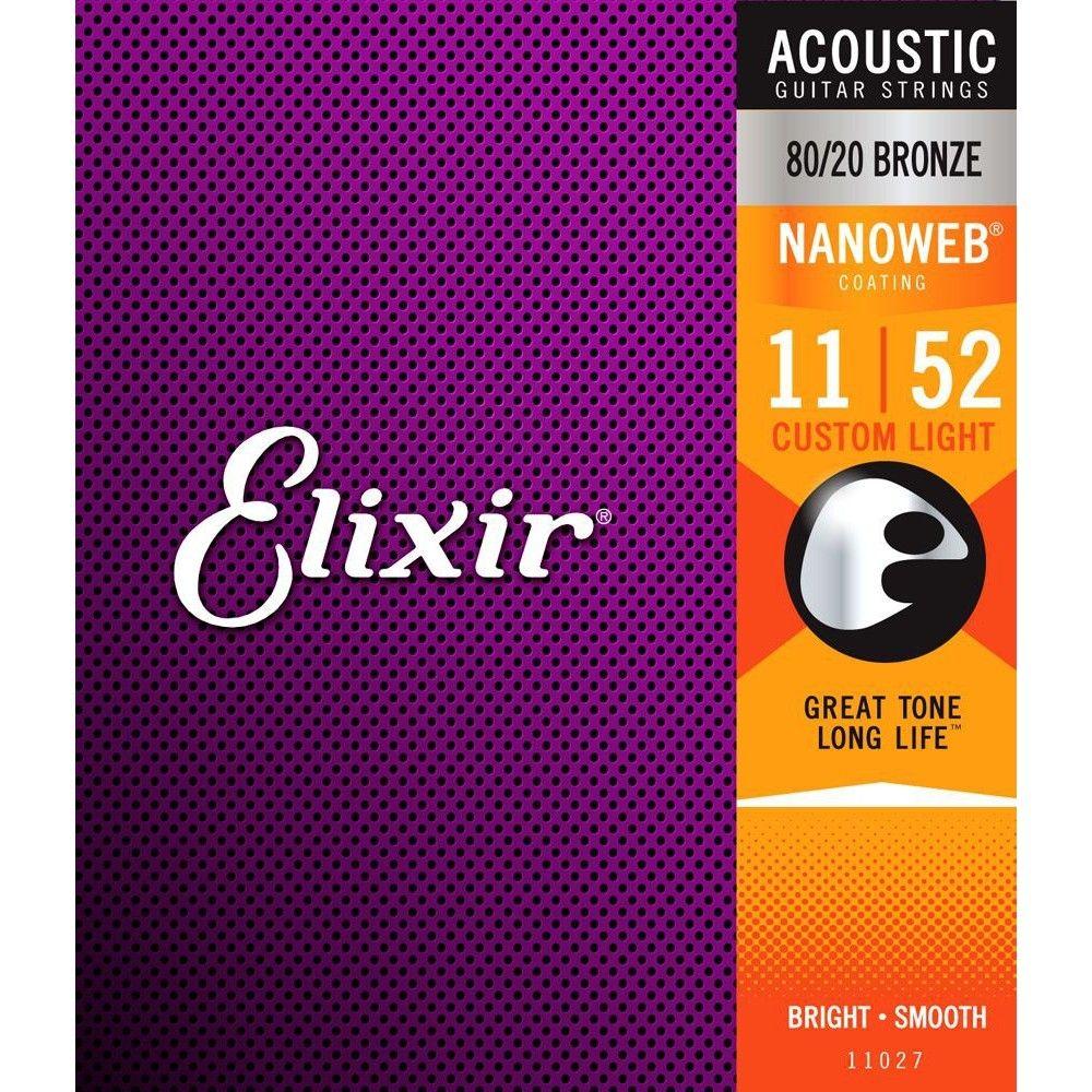 Elixir Nanoweb Bronze 11-52 - Set Corzi Chitara Acustica Elixir - 1