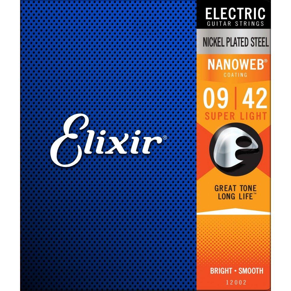 Elixir Nanoweb 09-42 - Set Corzi Chitara Electrica Elixir - 1