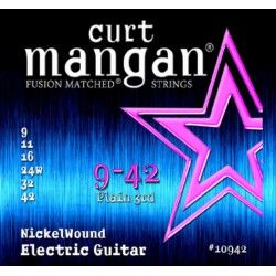 Curt Mangan Nickel Wound 9-42 - Set Corzi Chitara Electrica