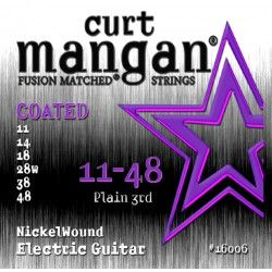 Curt Mangan Nickel Wound Coated 11-48 - Set Corzi Chitara Electrica