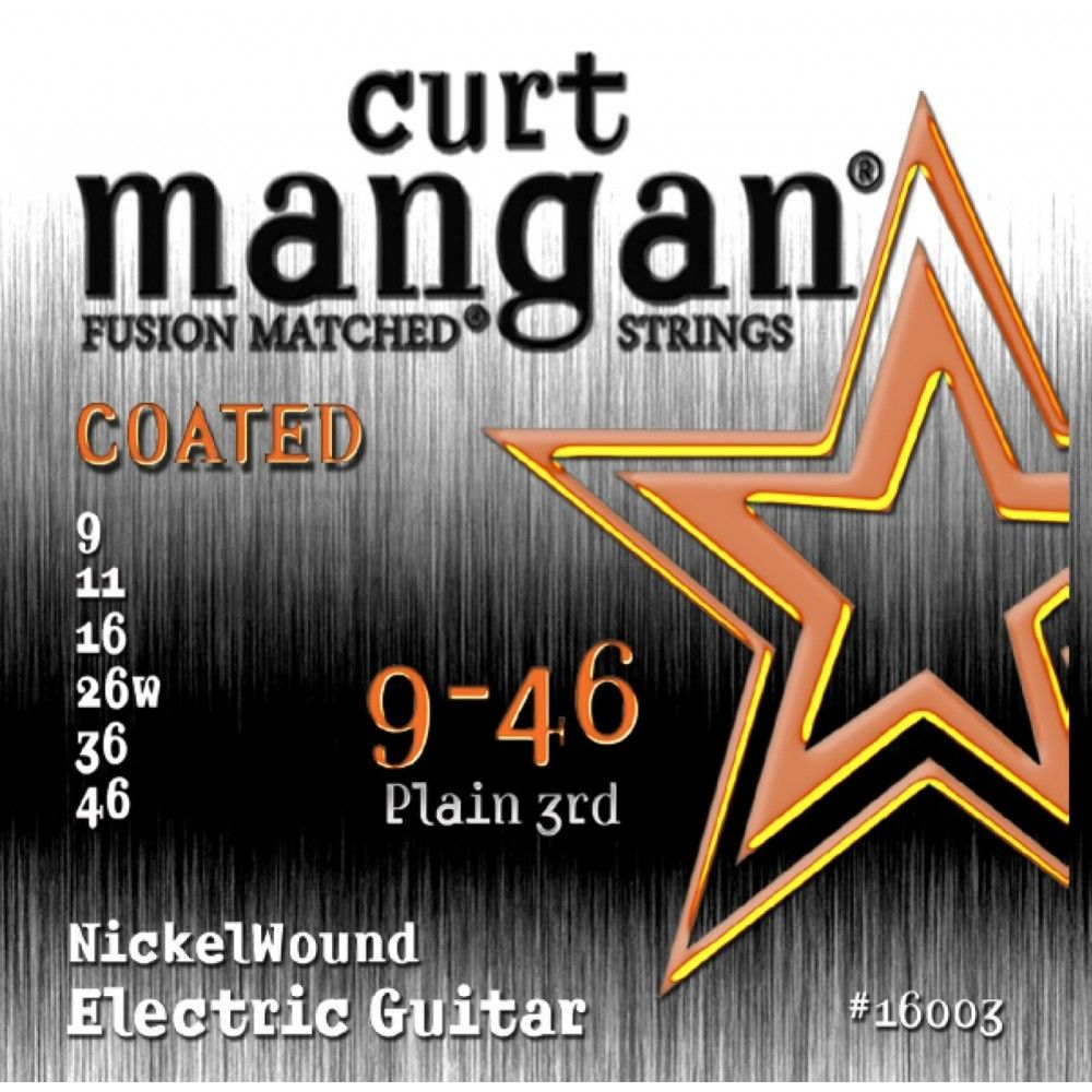 Curt Mangan Nickel Wound Coated 09-46 - Set Corzi Chitara Electrica Curt Mangan - 1