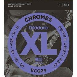 D'Addario ECG24 Chromez Jazz LT - Set Corzi Chitara - 11-50 D'Addario - 1