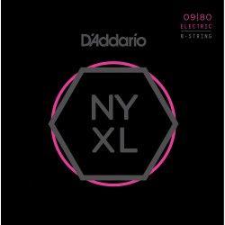 D'Addario NYXL0980 -Set 8 Corzi Chitara Electrica 09-80 D'Addario - 1