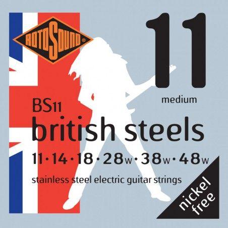 Rotosound British Steels BS11 - Set Corzi Chitara Electrica 11-48 Rotosound - 1