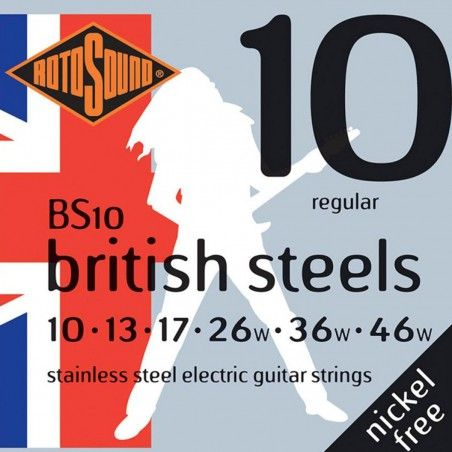 Rotosound British Steels BS10 - Set Corzi Chitara Electrica 10-46 Rotosound - 1