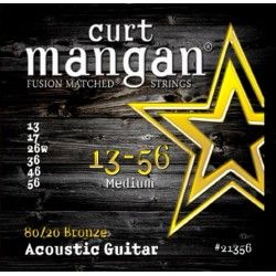 Curt Mangan 80/20 - Set Corzi Chitara Acustica 13-56 Curt Mangan - 1