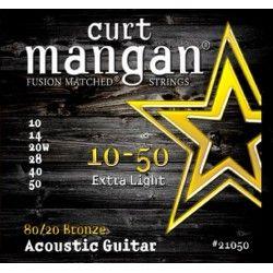 Curt Mangan 80/20 Bronze - Set Corzi Chitara Acustica 10-50 Curt Mangan - 1