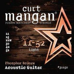 Curt Mangan Phosphor Bronze - Set Corzi Chitara Acustica 11-52 Curt Mangan - 1