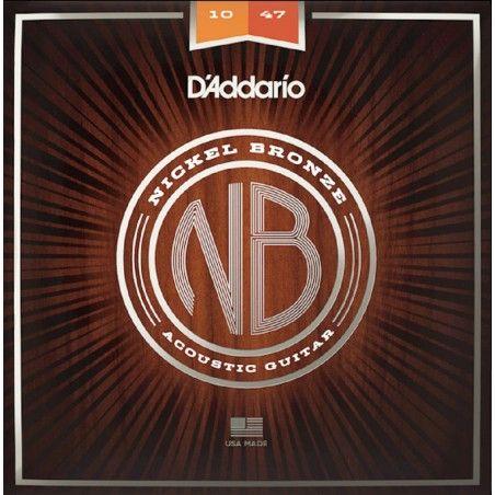 D'Addario NB1047 - Set Corzi Chitara Acustica 10-47 D'Addario - 1