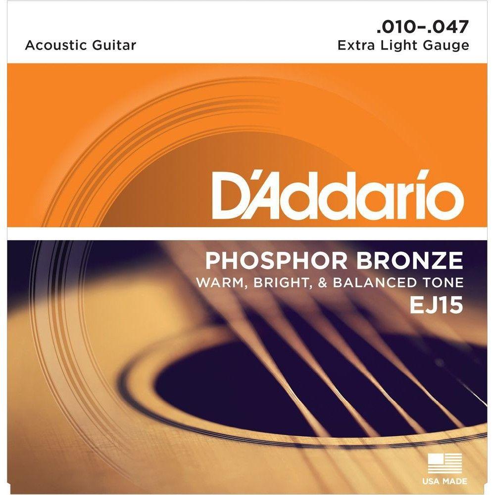 D'Addario EJ15 Phosphor Bronze - Set Corzi Chitara Acustica 10-47 D'Addario - 1