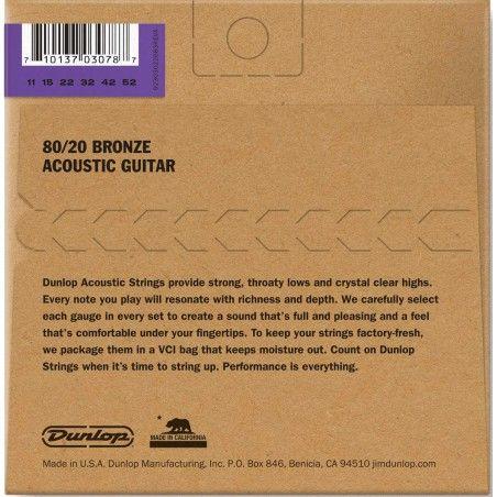Dunlop DAB1152 - Set Corzi Chitara Acustica 11-52 Dunlop - 2
