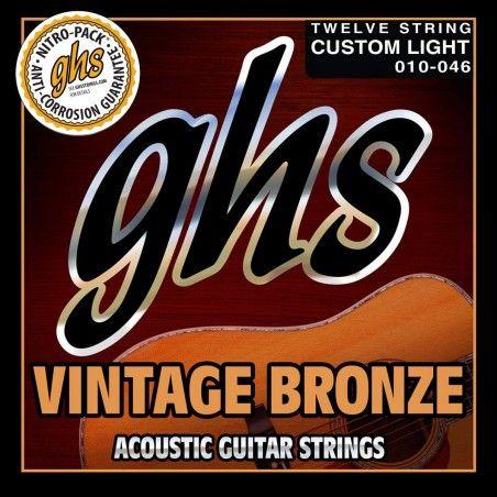 GHS VN-12CL 12 String - Set 12 Corzi Chitara Acustica 10-46 GHS - 1