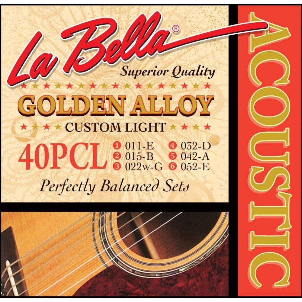 La Bella 40PCL - Set Corzi Chitara Acustica 11-52 La Bella - 1