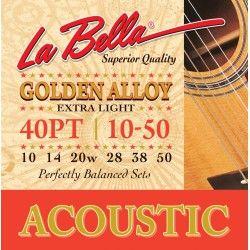 La Bella 40PT - Set Corzi Chitara Acustica 10-50 La Bella - 1