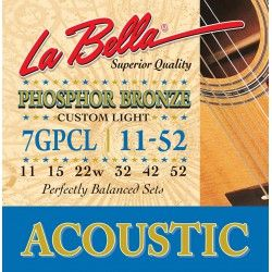 La Bella 7GPCL - Set Corzi Chitara Acustica 11-52 La Bella - 1