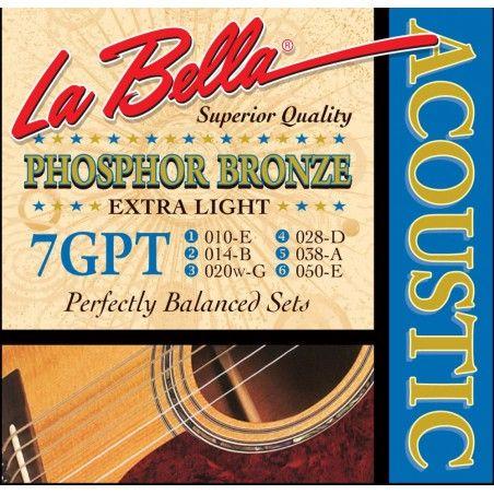 La Bella 7GPT - Set Corzi Chitara Acustica 10-50 La Bella - 1