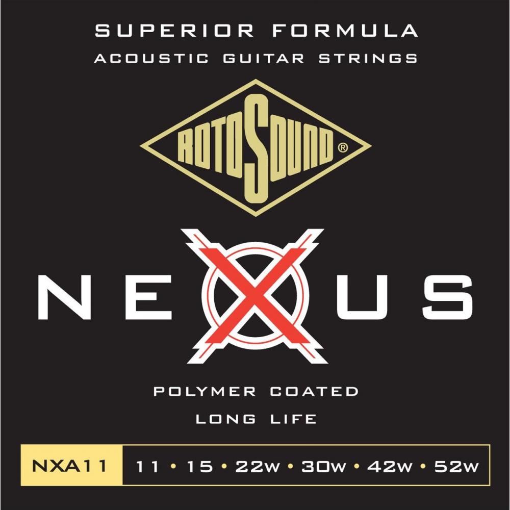 Rotosound NXA11 Nexus Coated - Set Corzi Chitara Acustica 11-52 Rotosound - 1