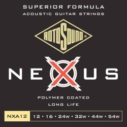 Rotosound NXA12 Nexus Coated - Set Corzi Chitara Acustica 12-54 Rotosound - 1