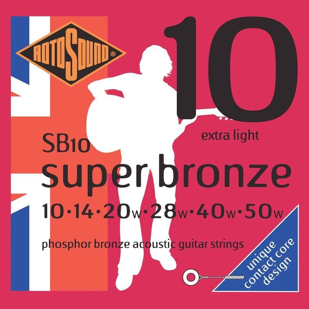 Rotosound Super Bronze SB10 - Set Corzi Chitara Acustica 10-50 Rotosound - 1