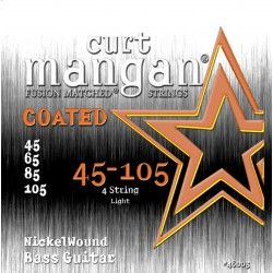 Curt Mangan Nickel Wound Light Coated - Set 4 Corzi Chitara Bas  45-105