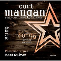 Curt Mangan Ph. Bronze - Set 4 Corzi Chitara Bas 40-95 Curt Mangan - 1
