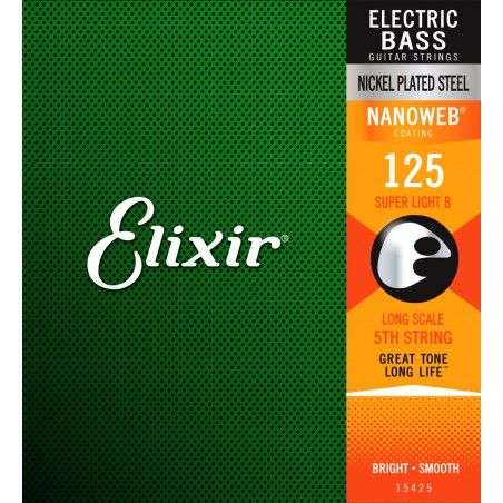 Elixir Nanoweb El Bass 5'th String Single 125 - Coarda Chitara Bass Elixir - 1