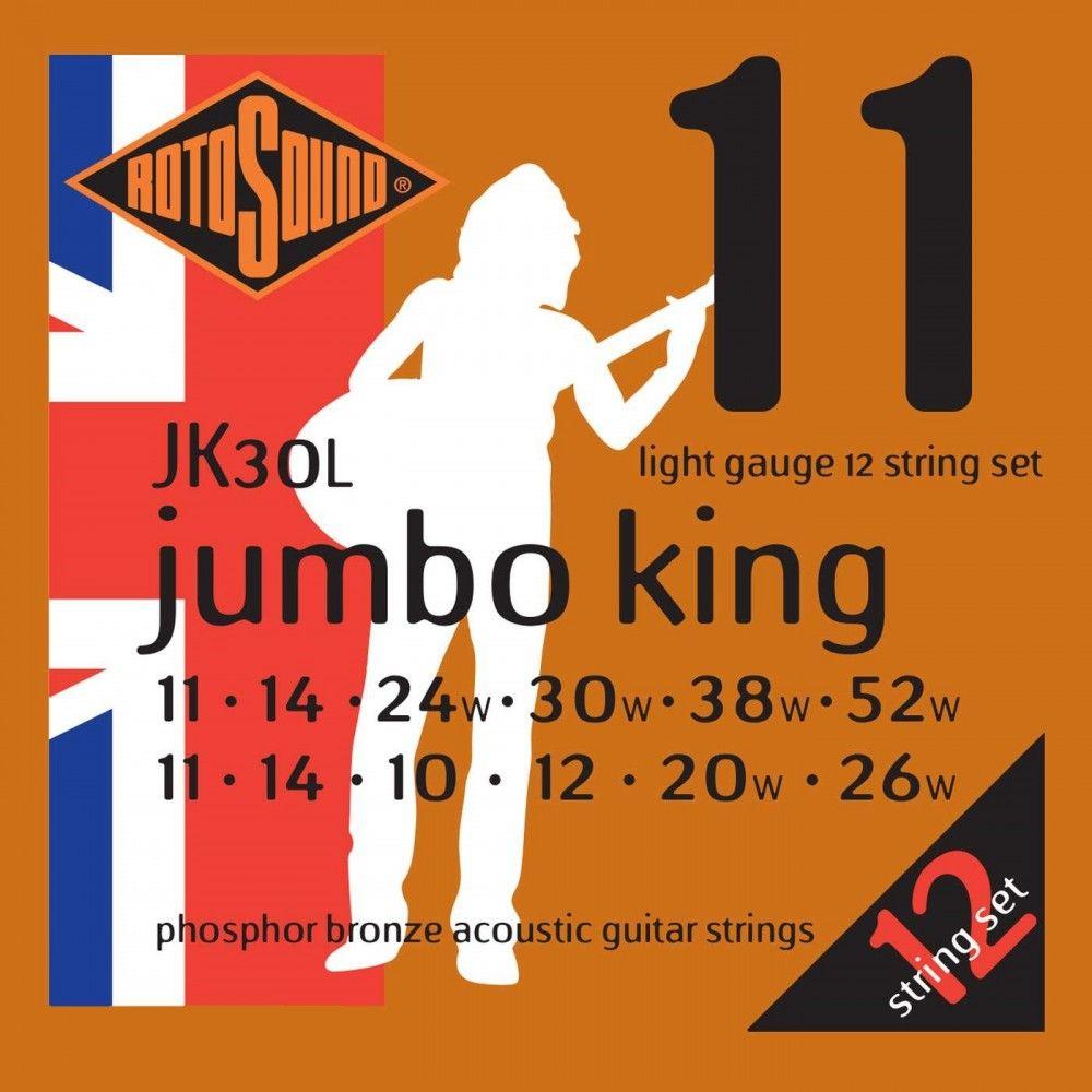 Rotosound Jumbo King JK30L - Set 12 Corzi Chitara Acustica 11-52 Rotosound - 1