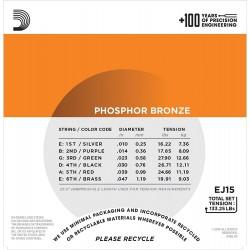 D'Addario EJ15-3D Phosphor Bronze - 3 Seturi Corzi Chitara Acustica 10-47 D'Addario - 2