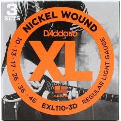 D'Addario EXL110-3D - 3 Seturi Corzi Chitara Electrica 10-46 D'Addario - 2