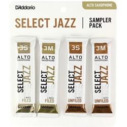 D'Addario SJ ASX Sampler PK 3S - 3M - Ancii saxofon Alto (Set de 4) D'Addario - 1
