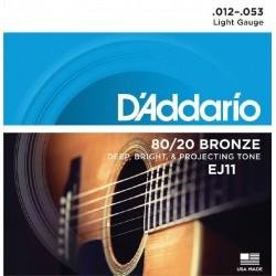 D'Addario EJ11 80/20 Bronze...