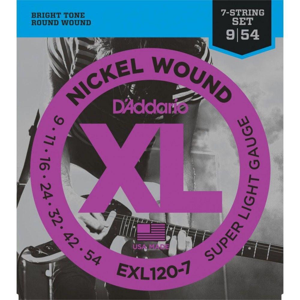 D'Addario EXL120-7 - Set 7 Corzi Chitara Electrica 09-54 D'Addario - 1
