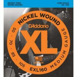 D'Addario EXL160 Long Scale - Set 4 Corzi Chitara Bass 50-105 D'Addario - 1