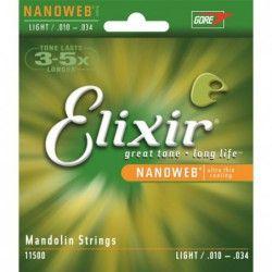 Elixir Nanoweb Mandolin Light - Set Corzi Mandolina 10-34 Elixir - 1