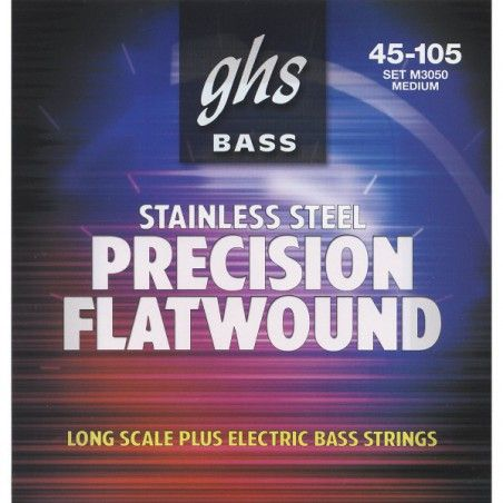 GHS M3050 Precision Flatwound - Set Corzi Chitara Bass 45-105 GHS - 1