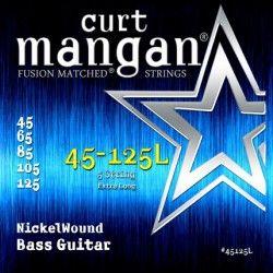 Curt Mangan Nickel 5 String 45-125L - Set corzi chitara bas