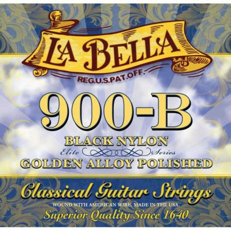 La Bella 900B Elite Gold Nylon Medium Tension - Set Corzi Chitara Clasica La Bella - 1