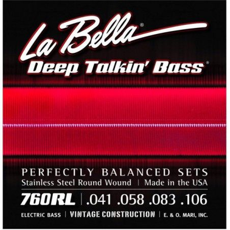 La Bella 760RL-B - Set 5 Corzi Chitara Bass 41-128 La Bella - 1