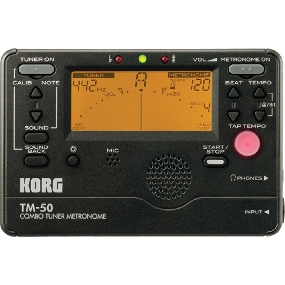 Korg TM-50C-BK - Acordor metronom cu microfon de contact Korg - 1