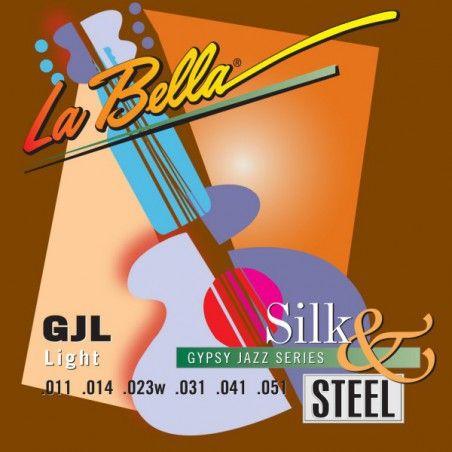 La Bella GJL-BE Gypsy Jazz Silk & Steel - Set Corzi Chitara Acustica 11-51 La Bella - 1