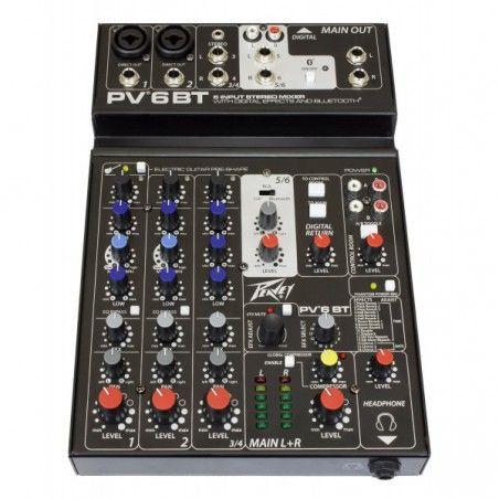 Peavey PV6 BT - Mixer neamplificat Peavey - 1
