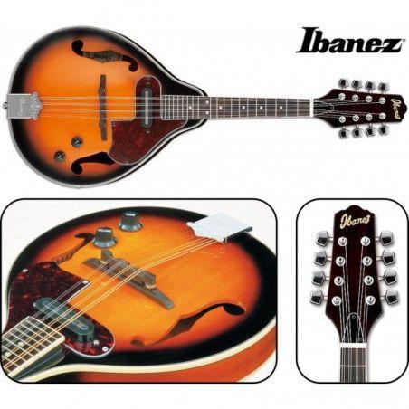 Ibanez M510E Brown Sunburst - Mandolina electro-acustica Ibanez - 1