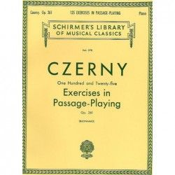 Carl Czerny: 125 Ex. in Passage Playing Op.261 - Manual pian MSG - 1