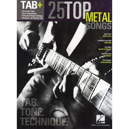 Tab+: 25 Top Metal Songs - Tab Tone Technique - Manual chitara MSG - 1