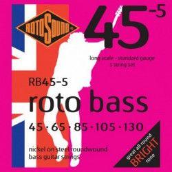 Rotosound Rotobass Regular RB455 - Set 5 Corzi Chitara Bass 45-135 Rotosound - 1
