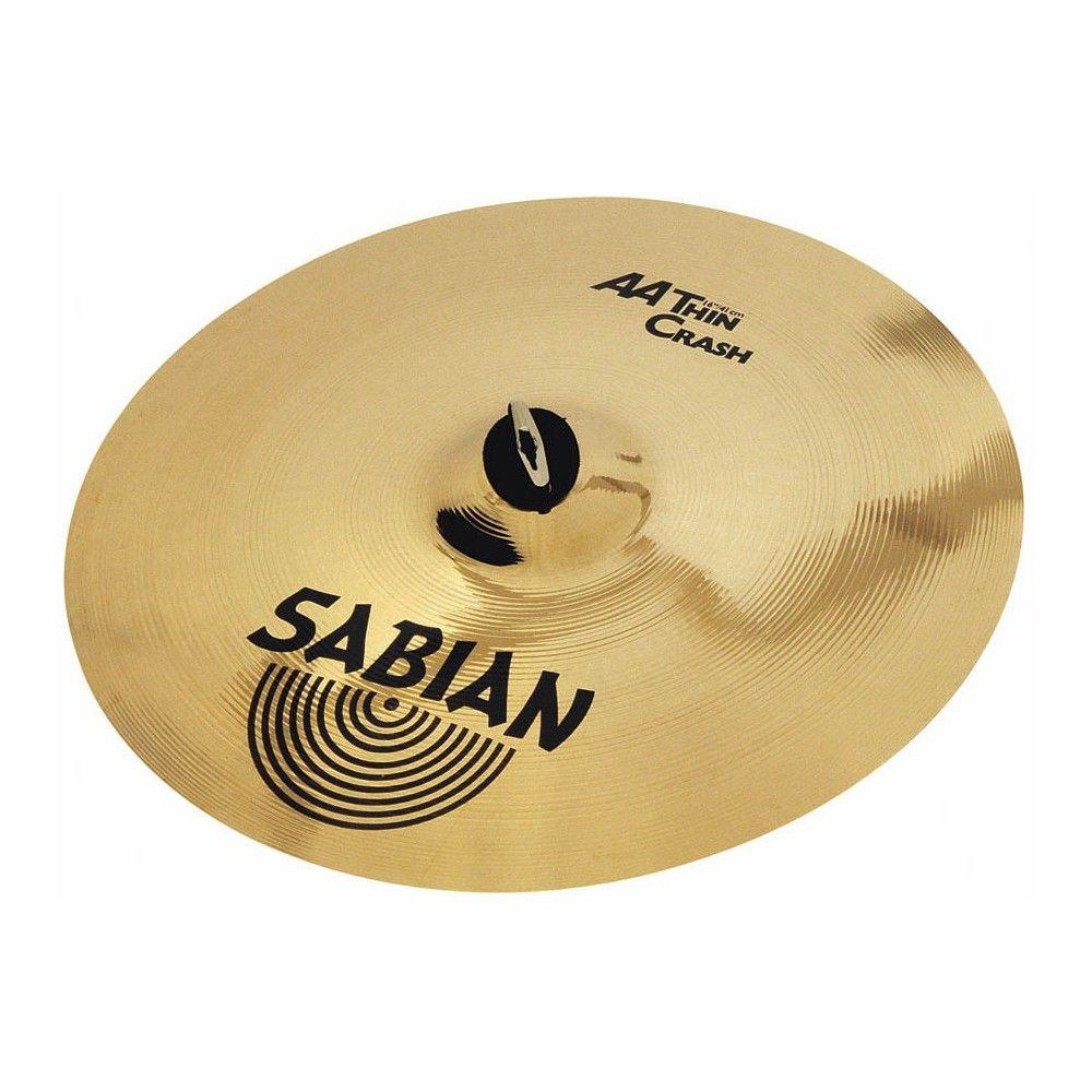 """Sabian 16"""" AA Thin Crash Brilliant - Cinel Sabian - 1"""