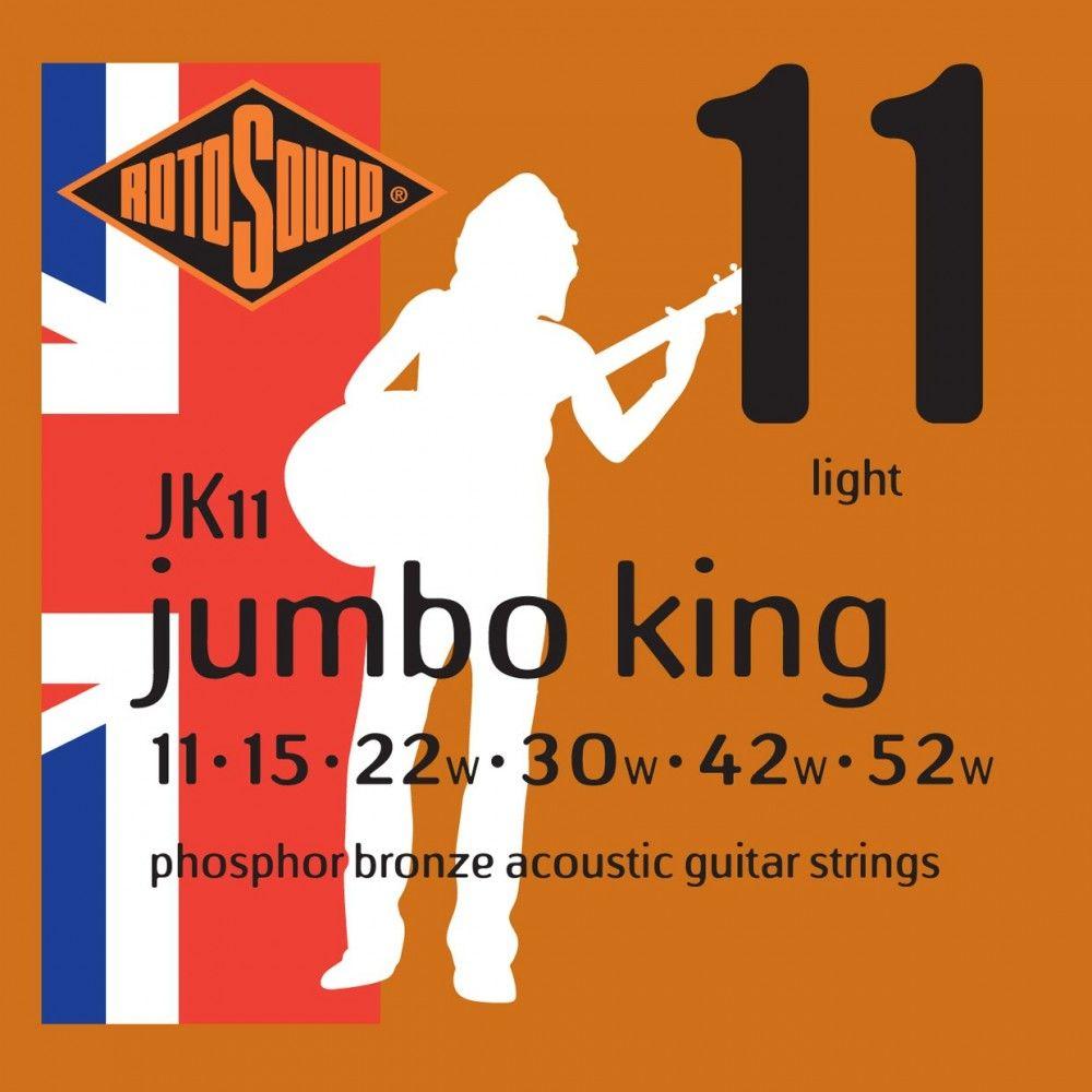 Rotosound Jumbo King - Set Corzi Chitara Acustica 11-52 Rotosound - 1