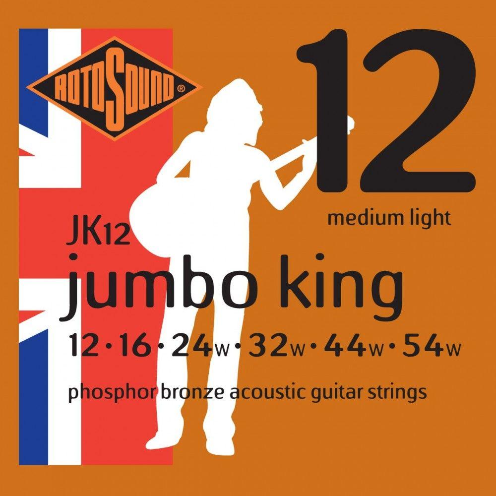 Rotosound Jumbo King - Set Corzi Chitara Acustica 12-54 Rotosound - 1